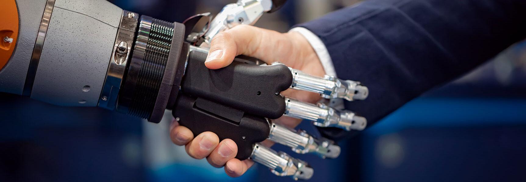 robots hand shake